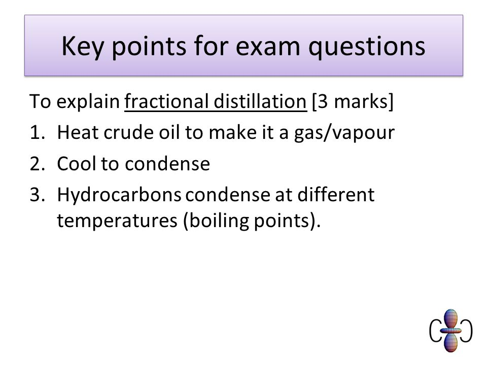 Key points for exam questions