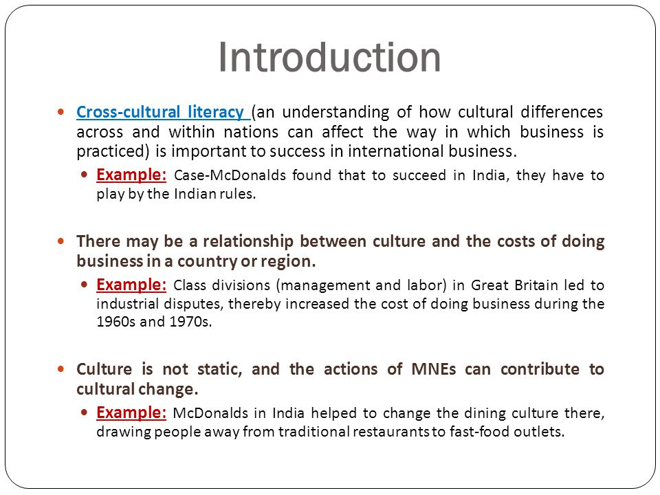cross cultural differences 2 essay Cross-cultural management focuses on reducing the cross-cultural differences and barriers and creating cross-cultural awareness in order to have better communication and cooperation at the workplace it is the toughest job of a cross-cultural manager to keep his employees involved in the tasks by keeping their differences aside.