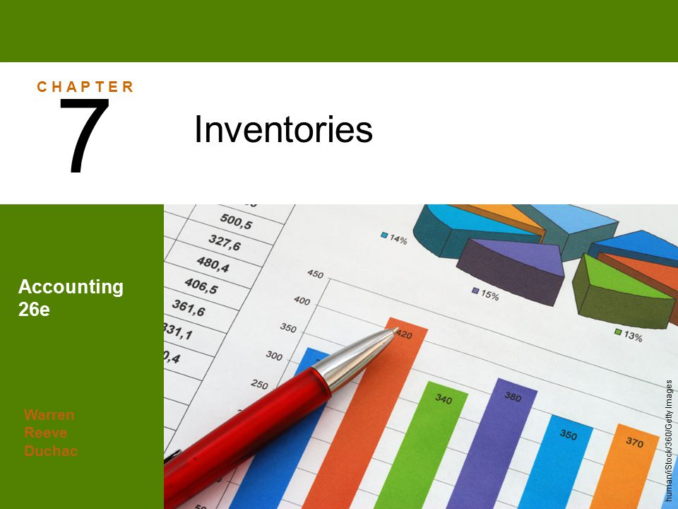 7 Inventories Accounting 26e C H A P T E R Warren Reeve Duchac