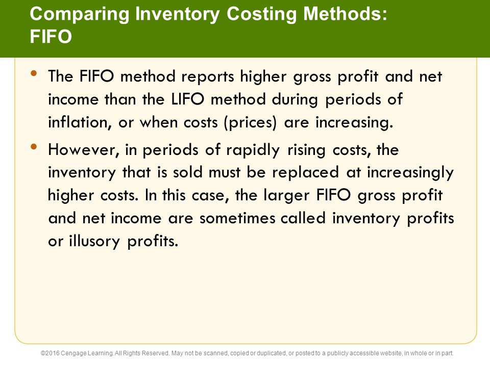 Comparing Inventory Costing Methods: FIFO