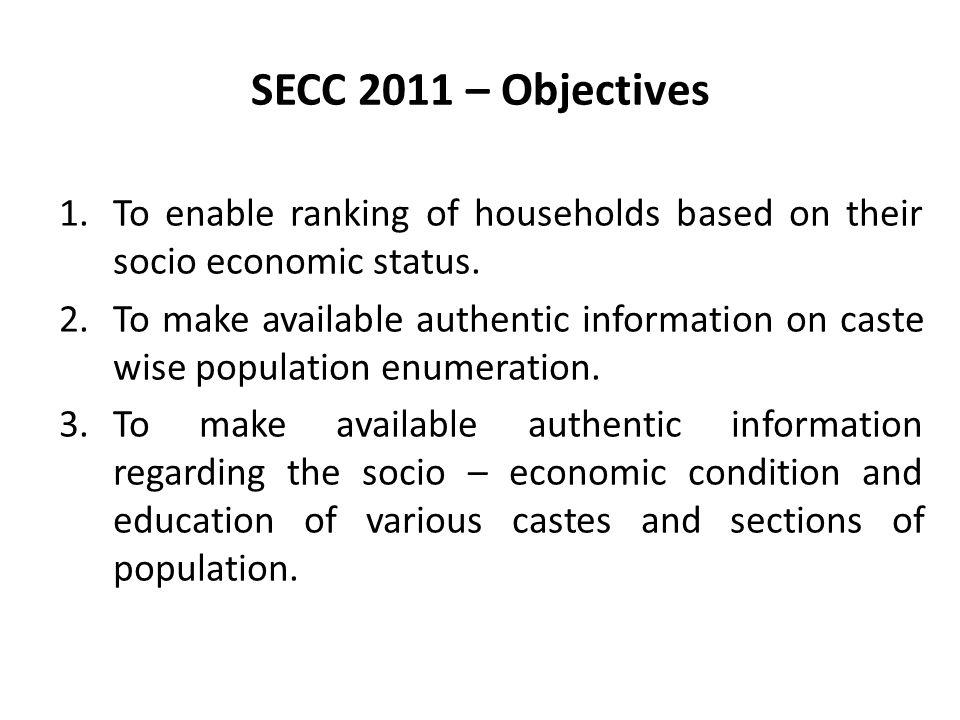 Socio Economic and Caste Census ppt download