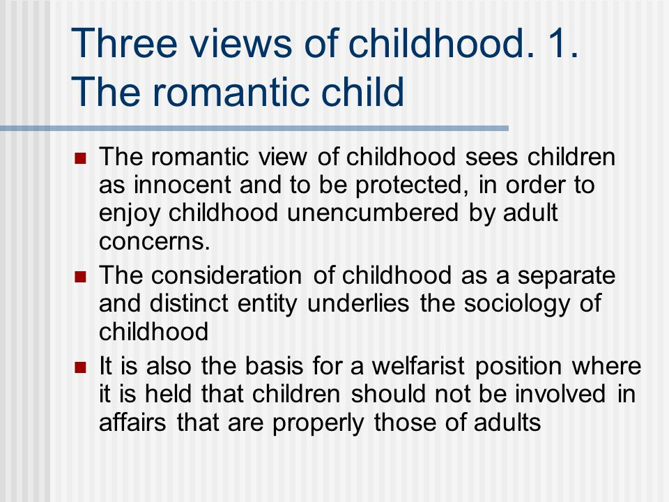 romantic view of childhood