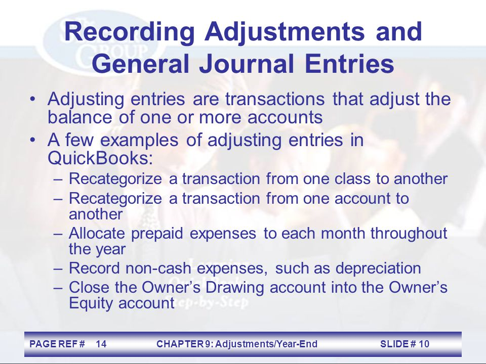 Recording Adjustments and General Journal Entries
