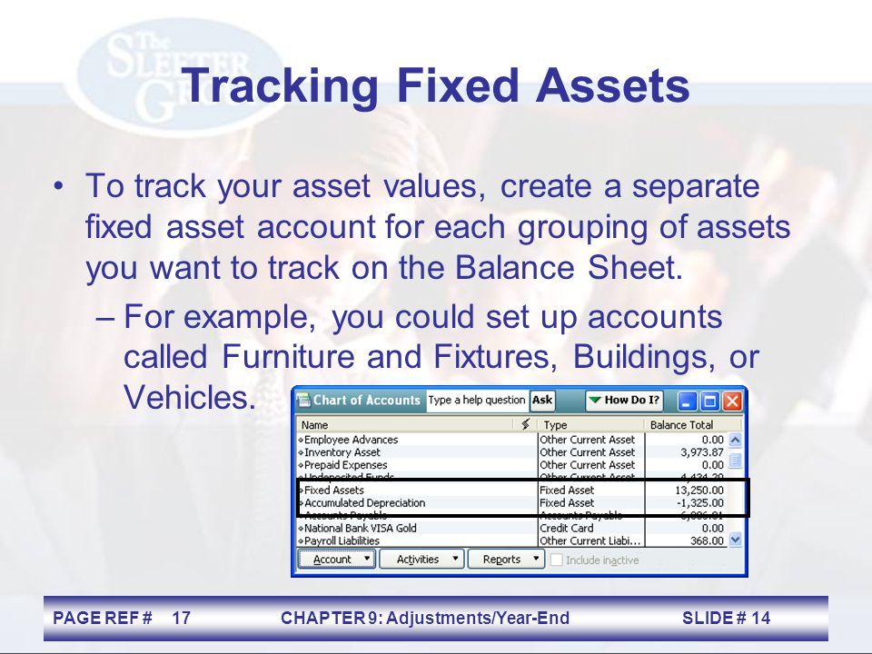 Tracking Fixed Assets