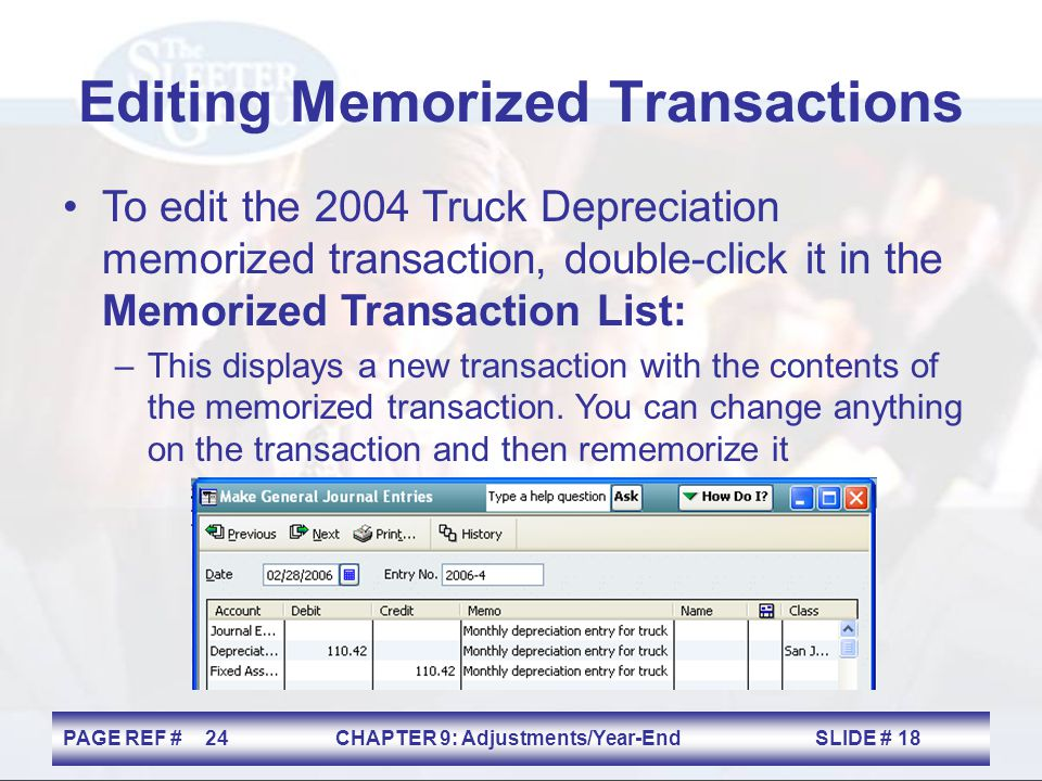 Editing Memorized Transactions