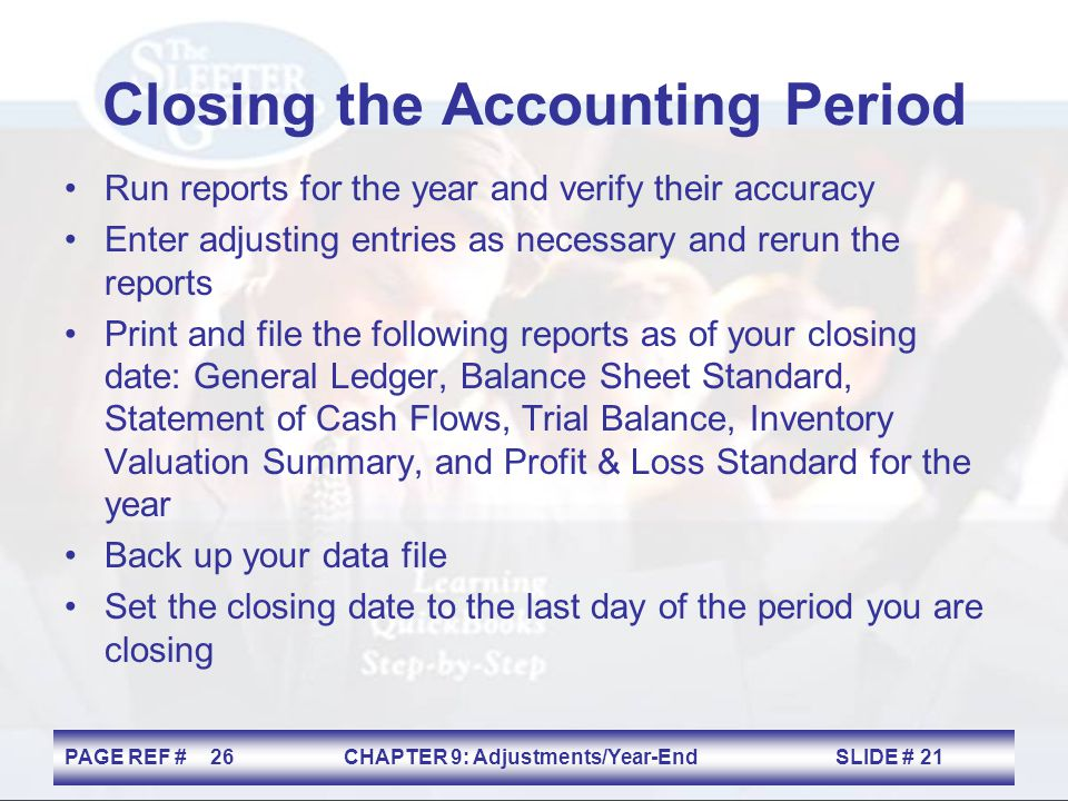Closing the Accounting Period