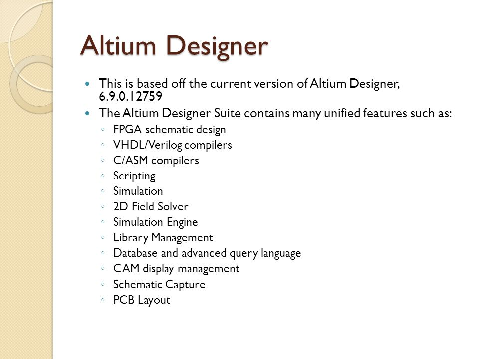 Altium Designer Guide Beginning & Intermediate Version - ppt