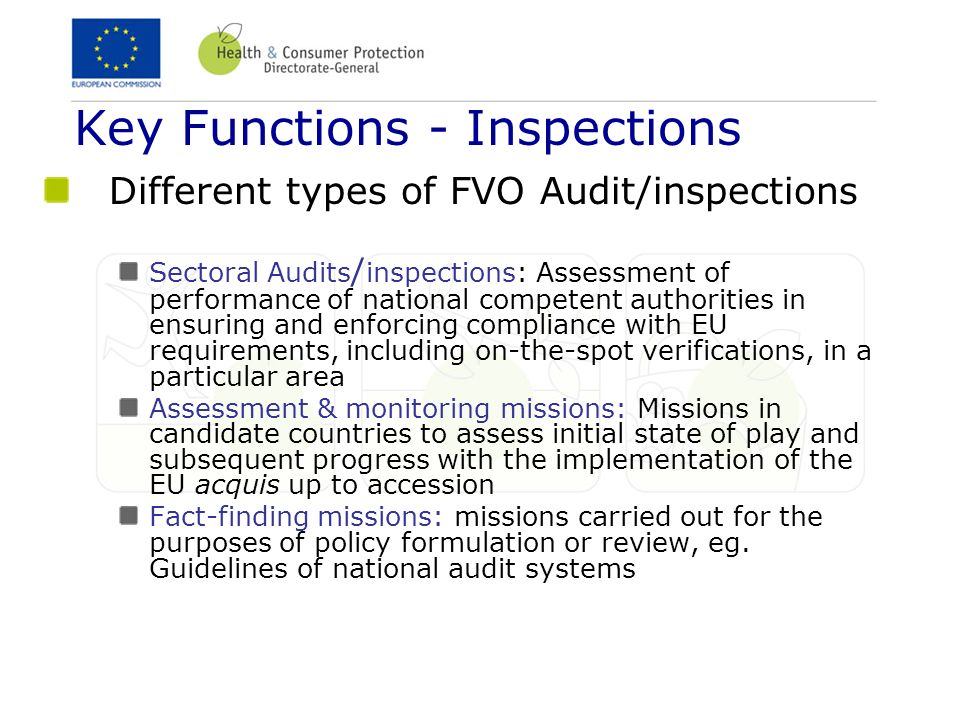 Key Functions - Inspections
