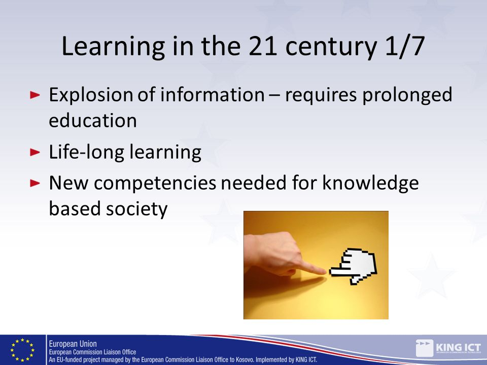Learning in the 21 century 1/7