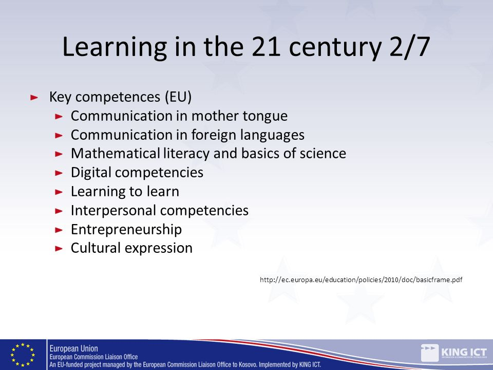 Learning in the 21 century 2/7