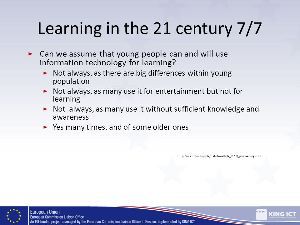 Learning in the 21 century 7/7