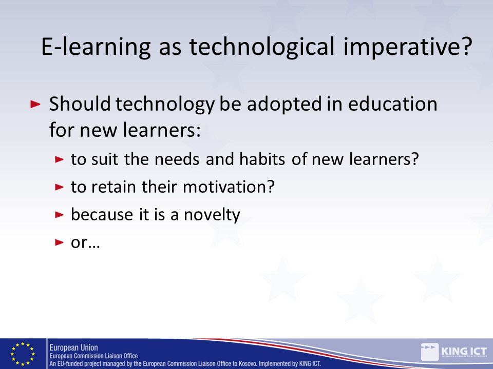 E-learning as technological imperative