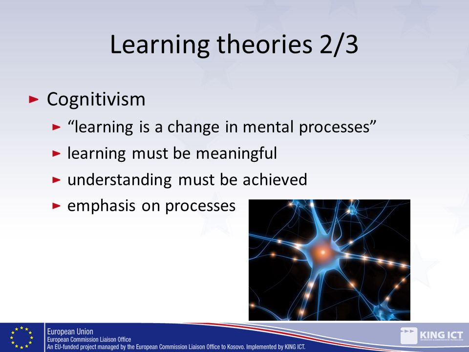 Learning theories 2/3 Cognitivism