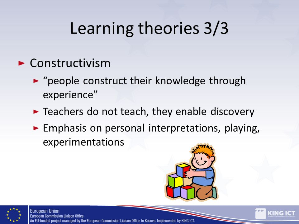 Learning theories 3/3 Constructivism