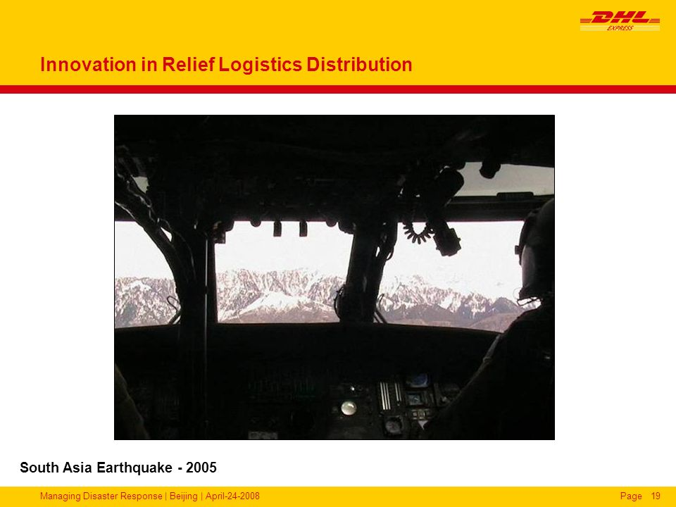 Innovation in Relief Logistics Distribution