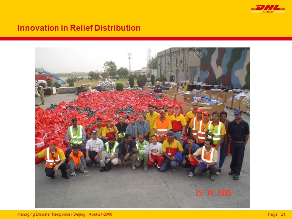 Innovation in Relief Distribution