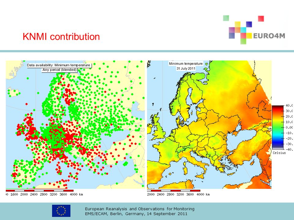KNMI contribution European Reanalysis and Observations for Monitoring