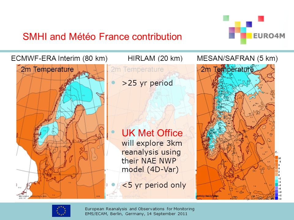 SMHI and Météo France contribution