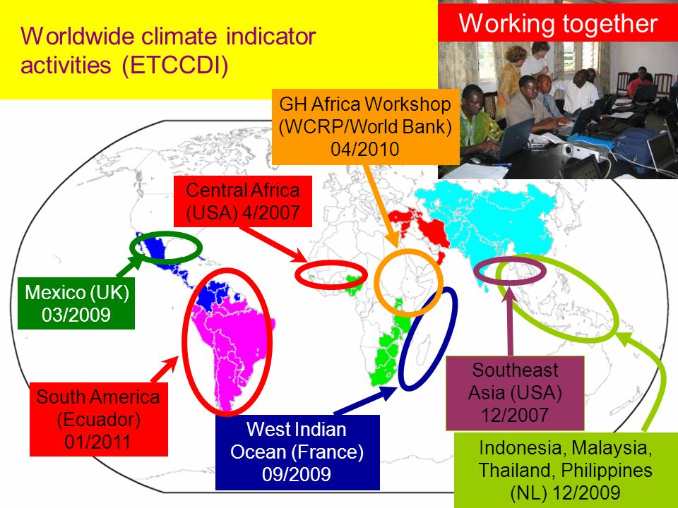 Worldwide climate indicator activities (ETCCDI)