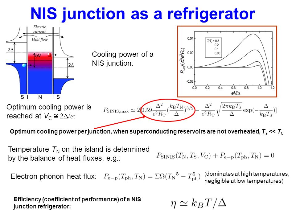 NIS junction as a refrigerator