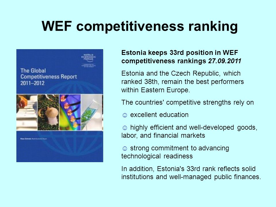 WEF competitiveness ranking