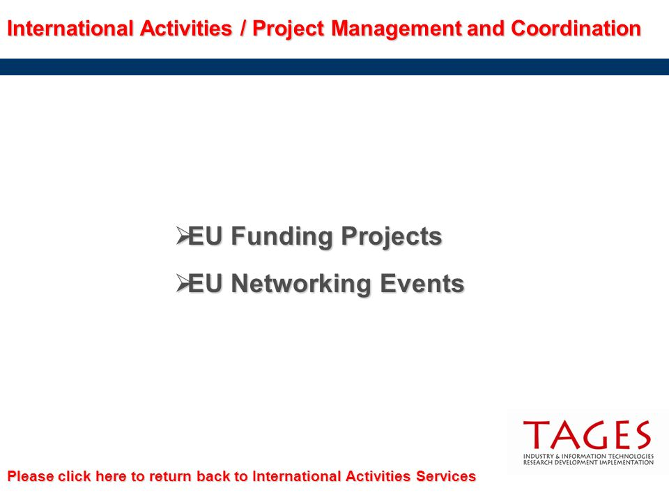 EU Funding Projects EU Networking Events