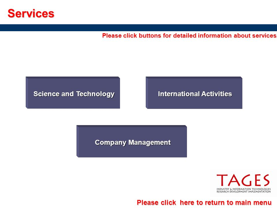 Services Science and Technology International Activities