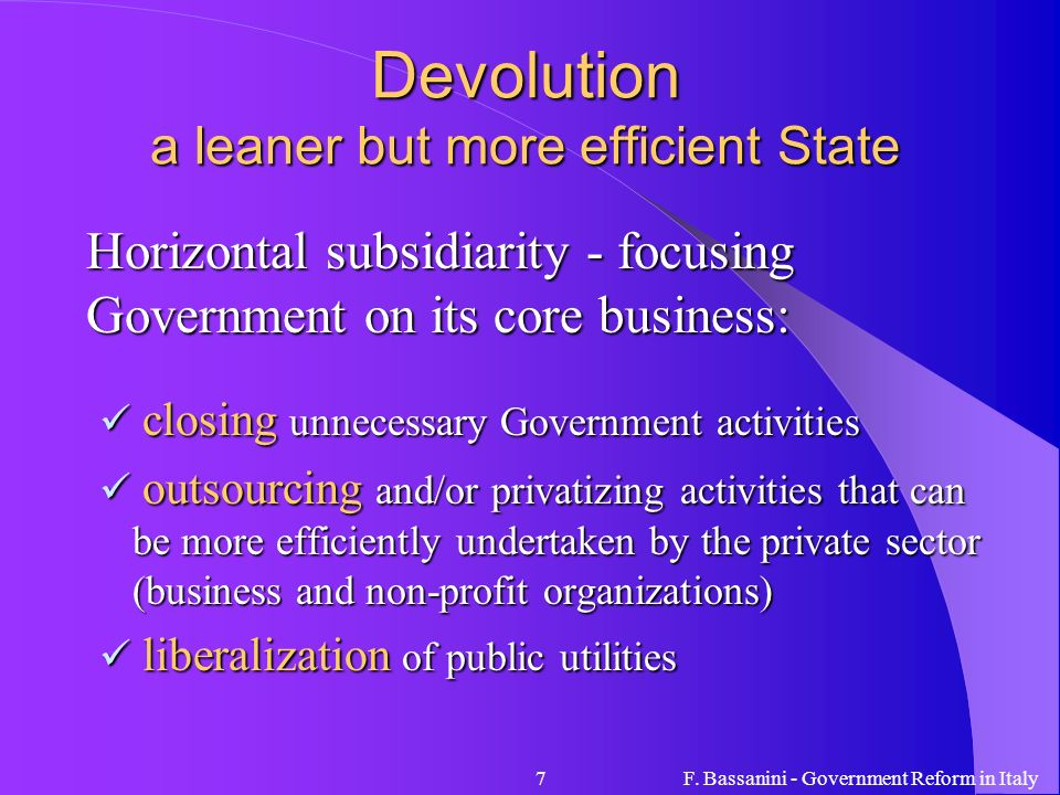 Devolution a leaner but more efficient State