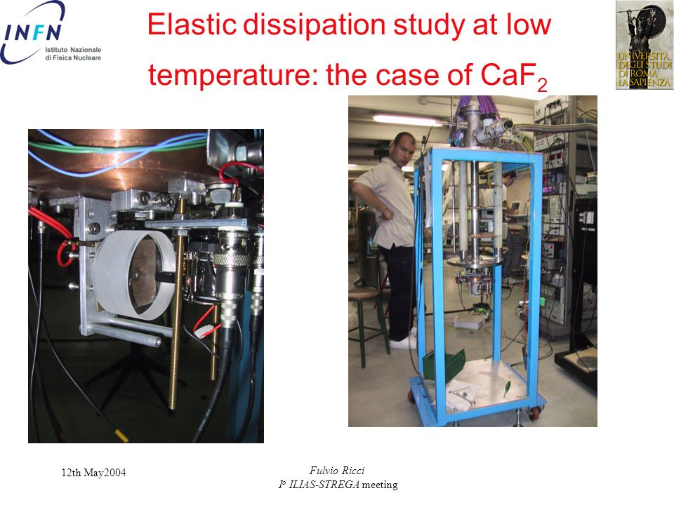 Elastic dissipation study at low temperature: the case of CaF2
