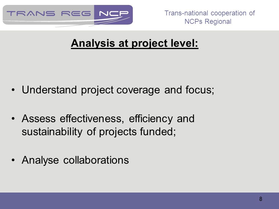 Analysis at project level: