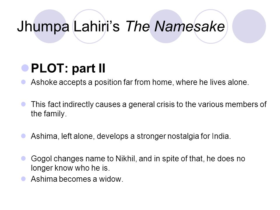 namesake dissertation Use our free chapter-by-chapter summary and analysis of the namesake it helps middle and high school students understand jhumpa lahiri's literary masterpiece.