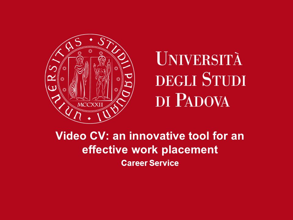 Video CV: an innovative tool for an effective work placement