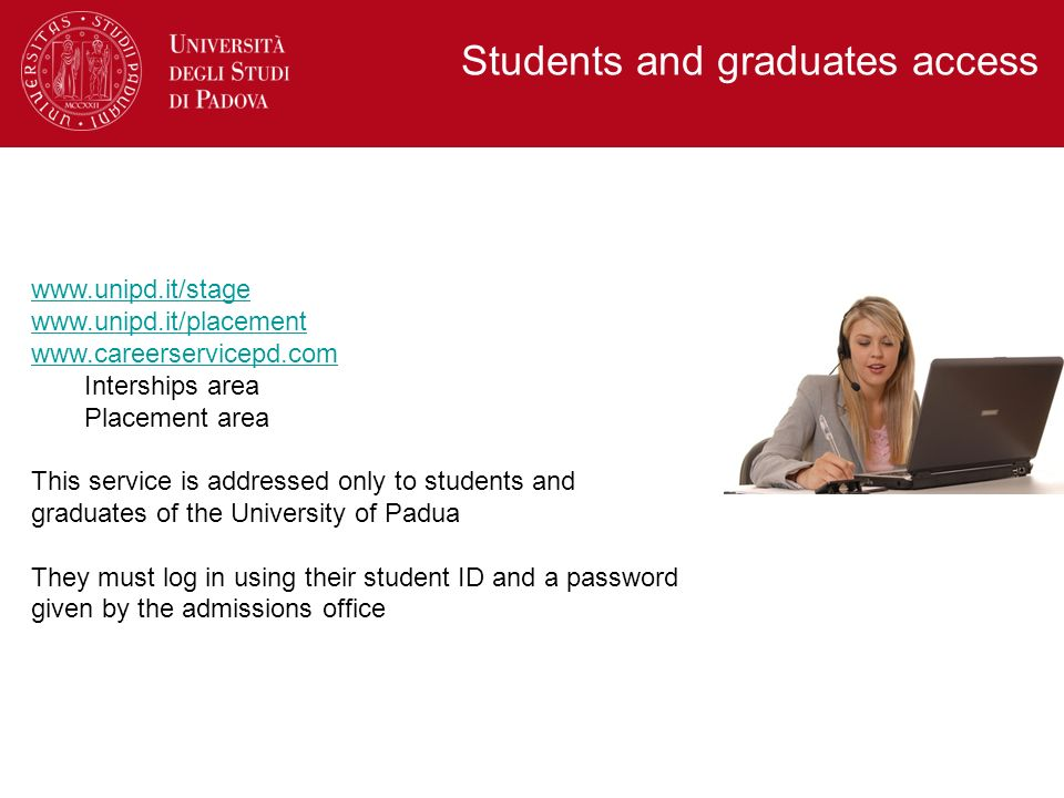 Students and graduates access