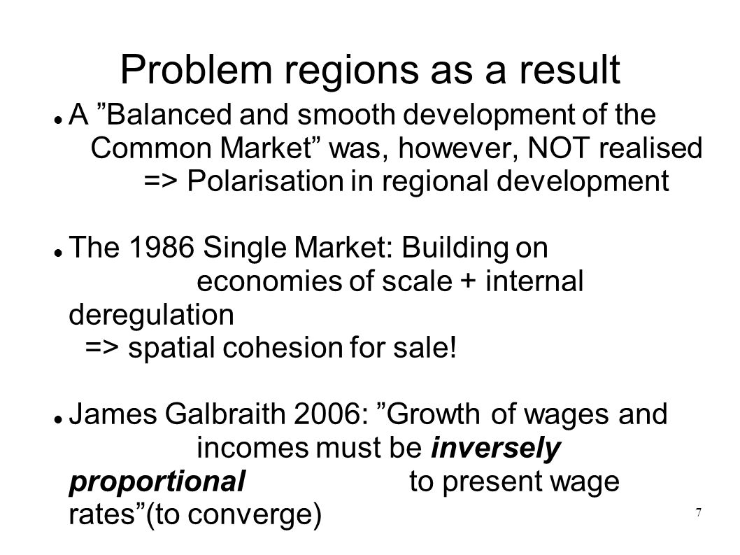 Problem regions as a result