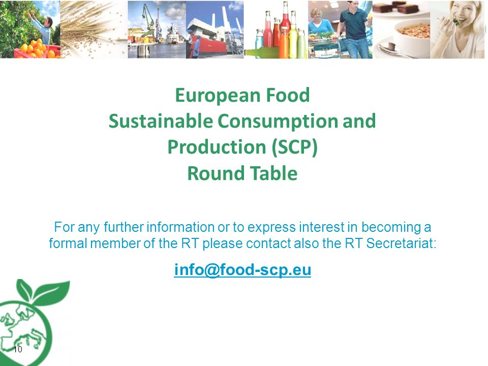European Food Sustainable Consumption and Production (SCP) Round Table