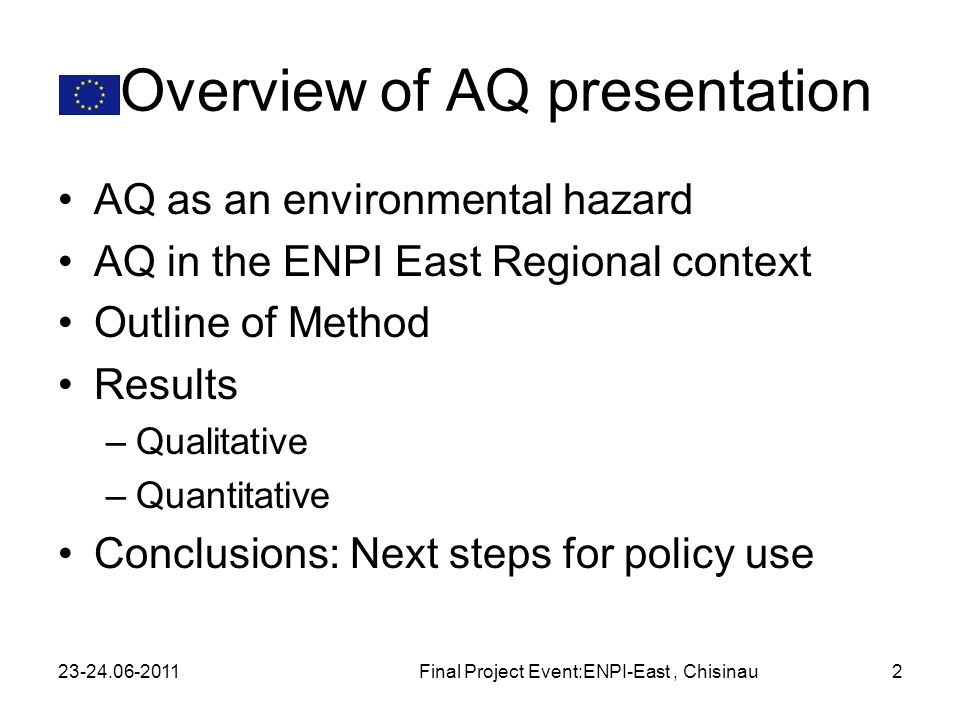 Overview of AQ presentation