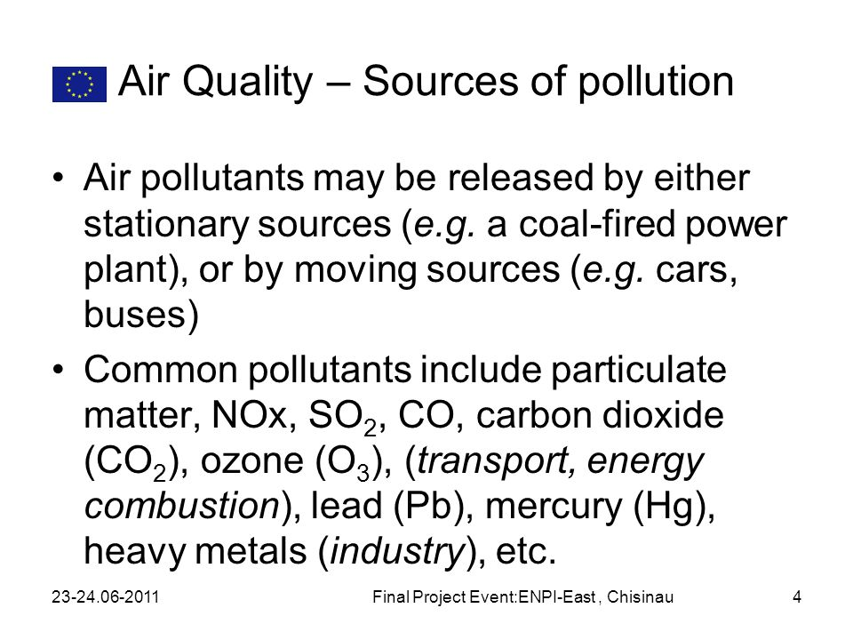 Air Quality – Sources of pollution