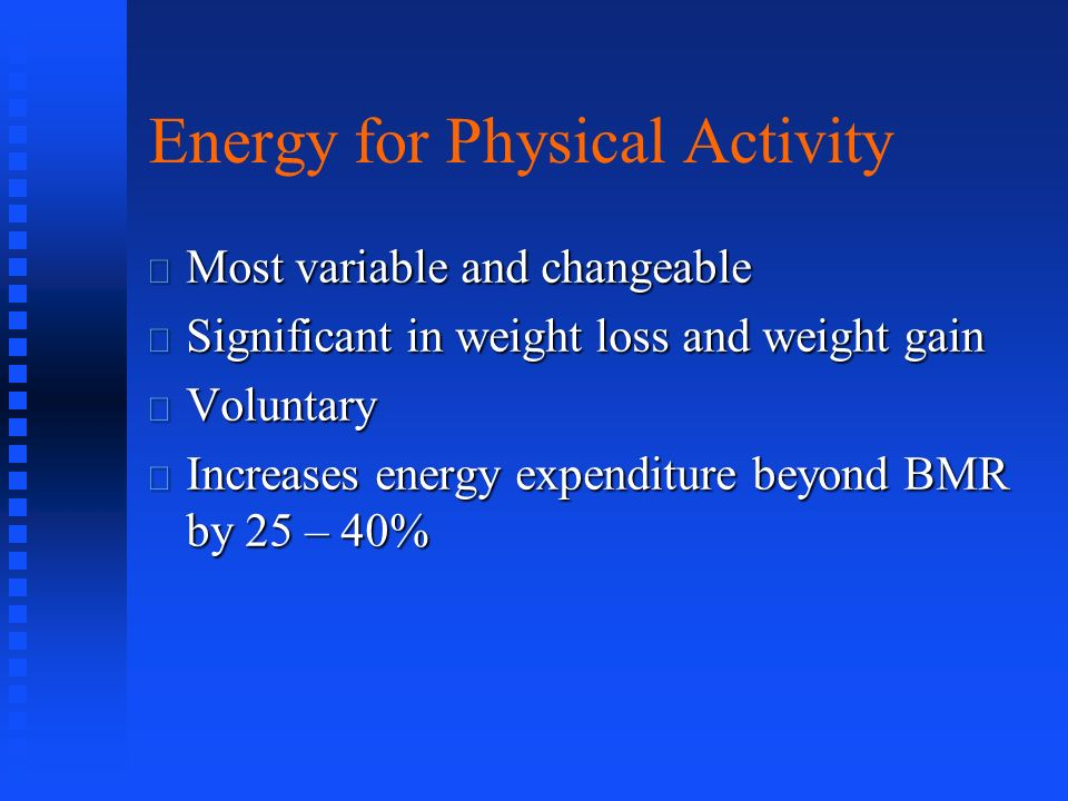 Energy for Physical Activity