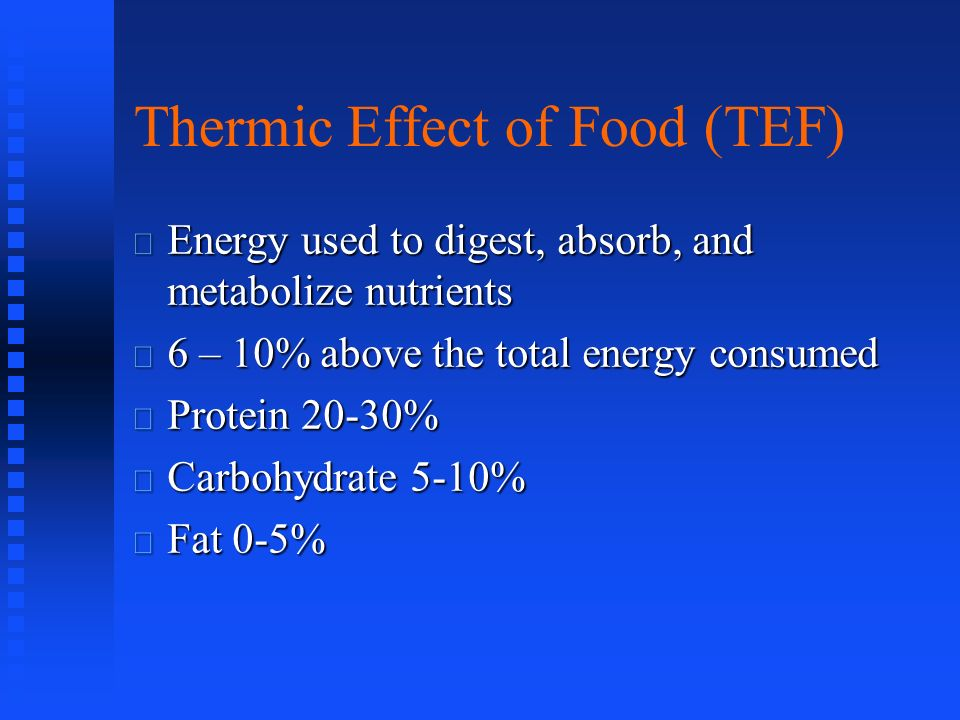 Thermic Effect of Food (TEF)