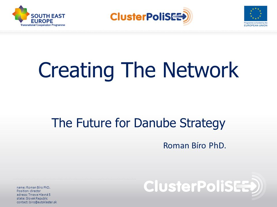 The Future for Danube Strategy