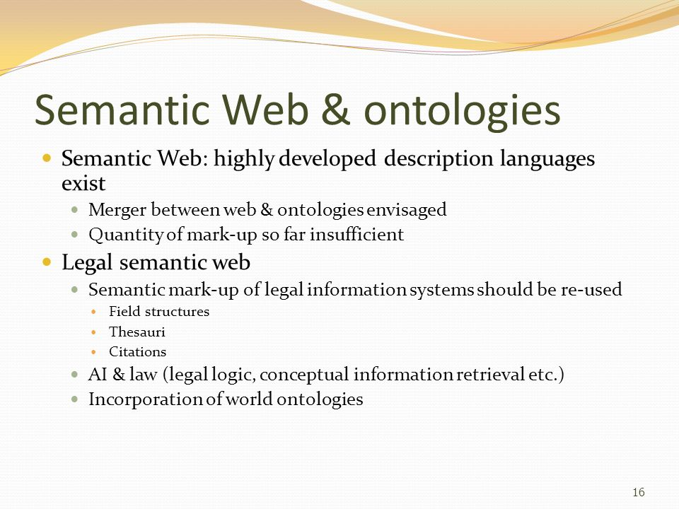 Semantic Web & ontologies