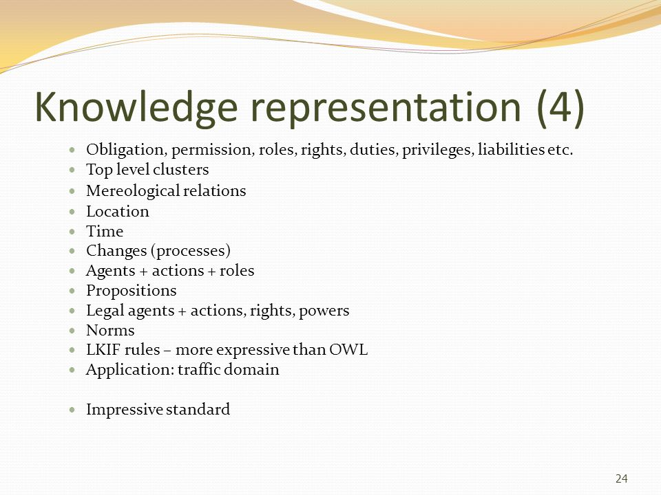 Knowledge representation (4)