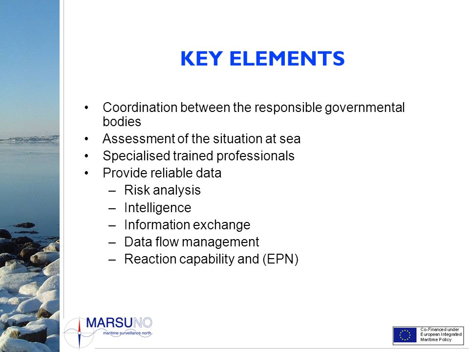 KEY ELEMENTS Coordination between the responsible governmental bodies