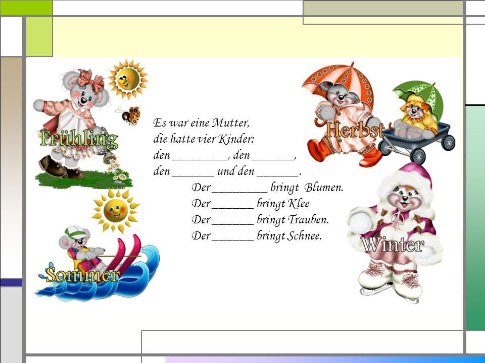 Ausgezeichnet Kindergarten Jahreszeiten Arbeitsblatt Galerie - Mathe ...