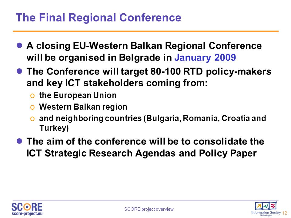 The Final Regional Conference