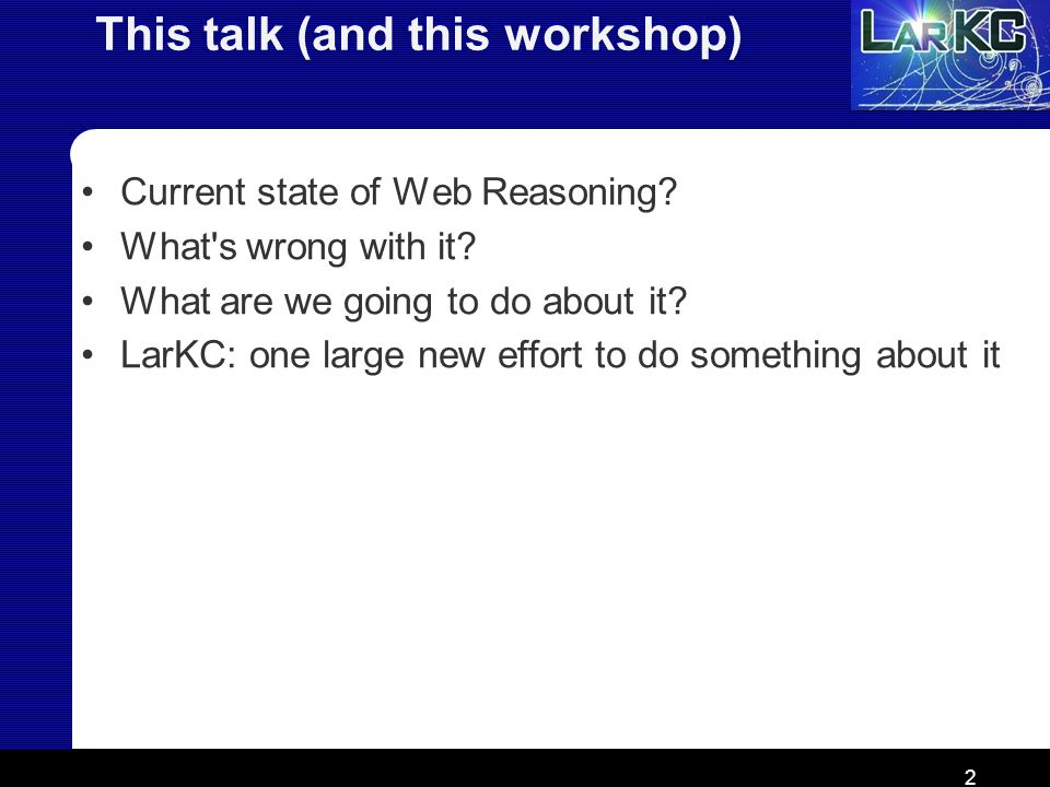 This talk (and this workshop)