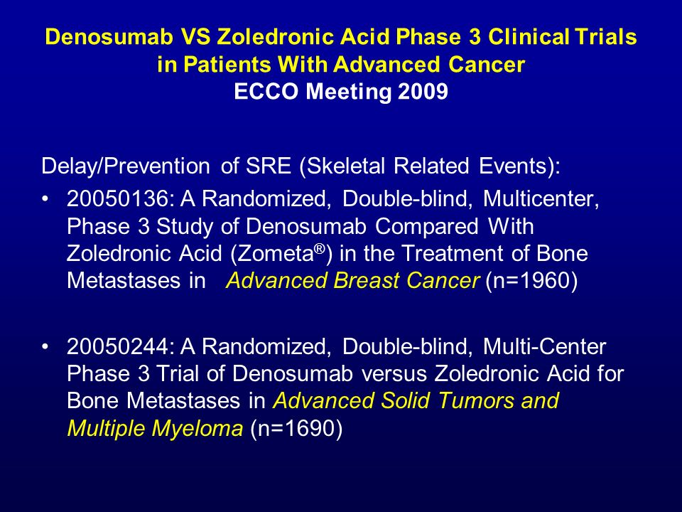 Delay/Prevention of SRE (Skeletal Related Events):