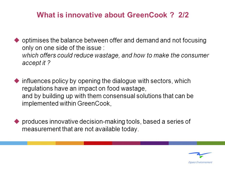 What is innovative about GreenCook 2/2
