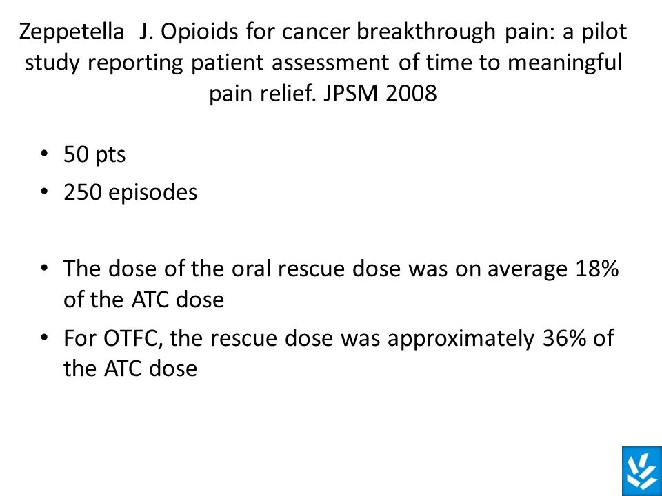 The dose of the oral rescue dose was on average 18% of the ATC dose
