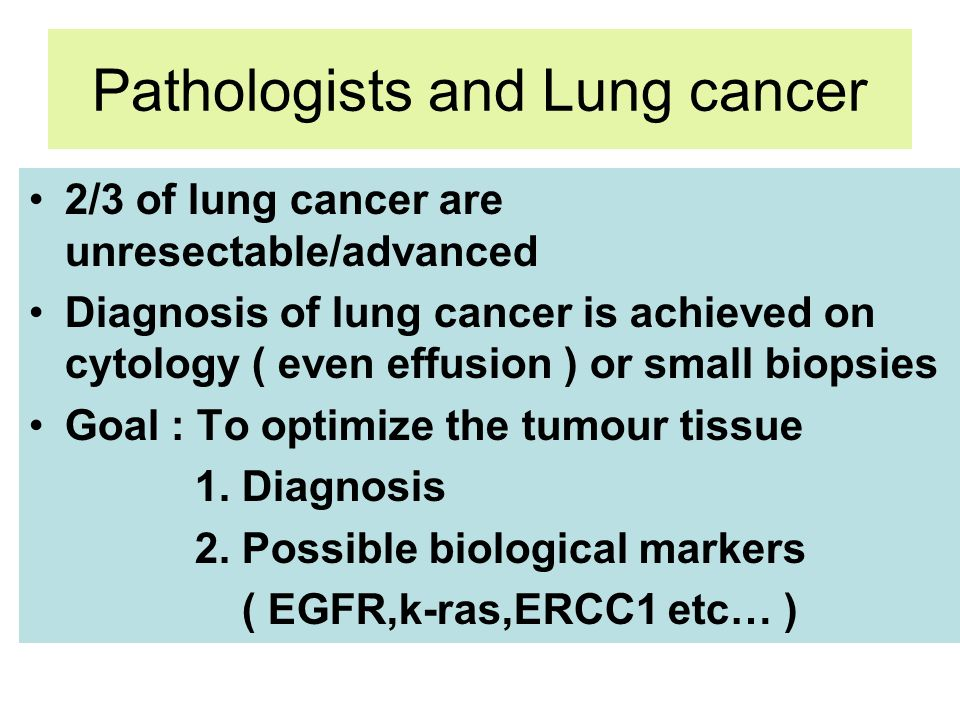 Pathologists and Lung cancer